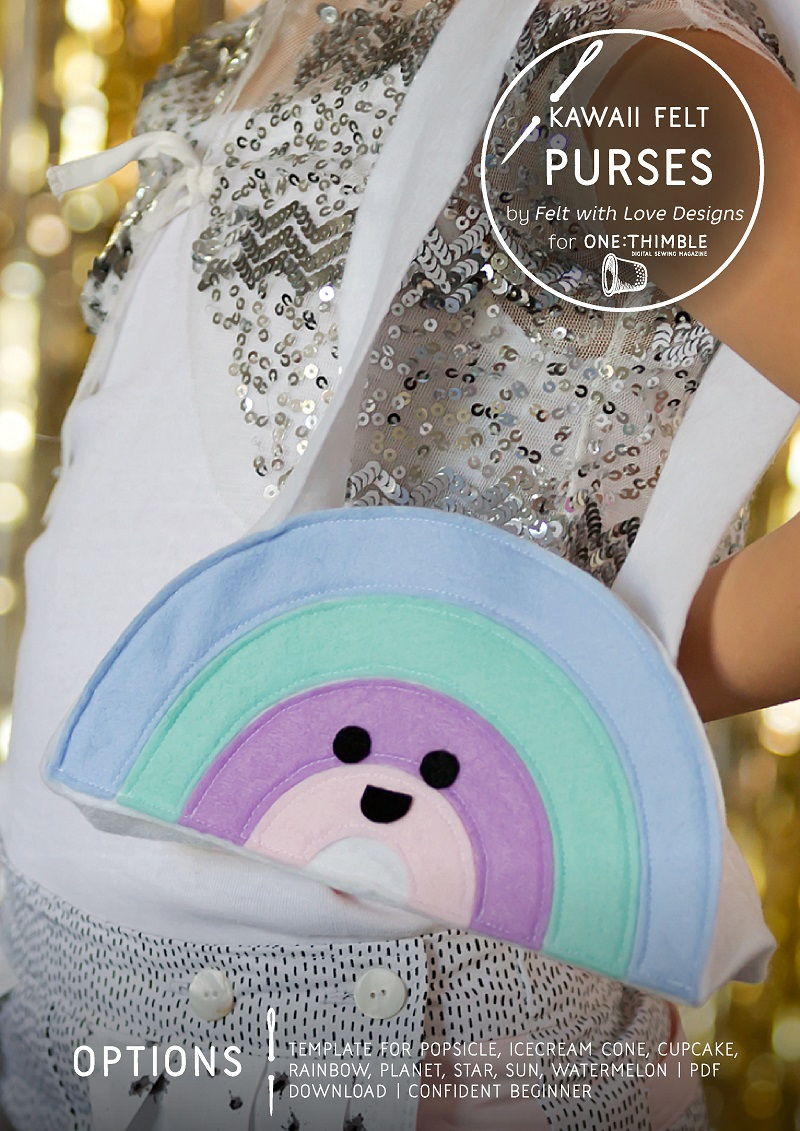 Kawaii Felt Purses by Felt with Love Designs for One Thimble Issue 13