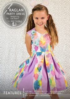 Raglan Party Dress Stand Alone Pattern Cover