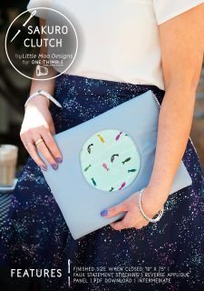 Sakuro Clutch by Little Moo Designs for One Thimble Issue 13