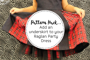 Add an underskirt to your Raglan Party Dress