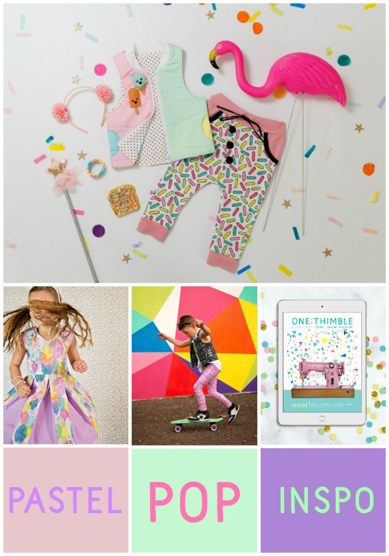 pastel pop mood board