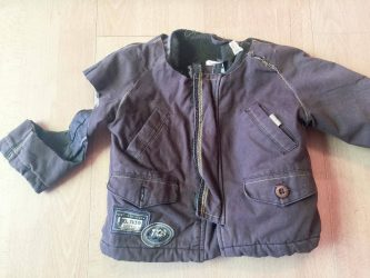 Jacket remains from bear hat