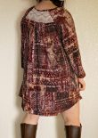 Amuse boho dress back yoke feature