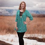 Amuse boho tunic outdoors