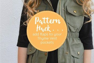 How to add flaps to your Thyme Vest
