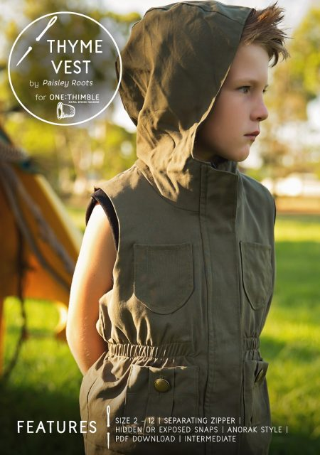 Thyme vest pattern cover