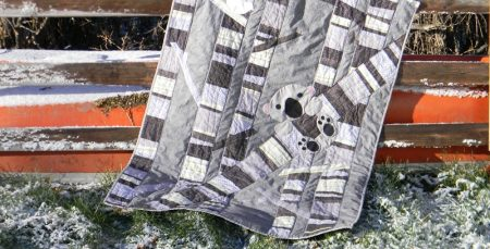 Timber! Quilt in snow