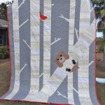 Timber! Quilt with red binding