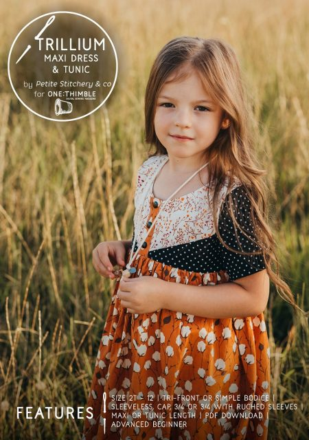 Trillium dress and tunic pattern cover