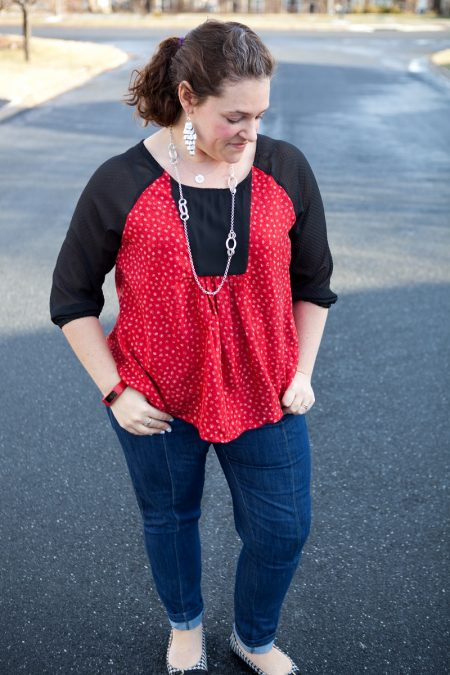 Amuse boho red top