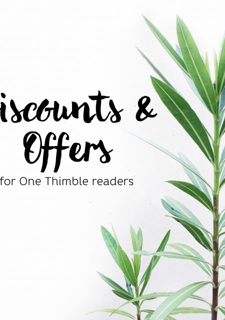 Discounts and offers for One Thimble Issue 14 readers