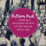 How to sew a smocked version of the Amuse Boho
