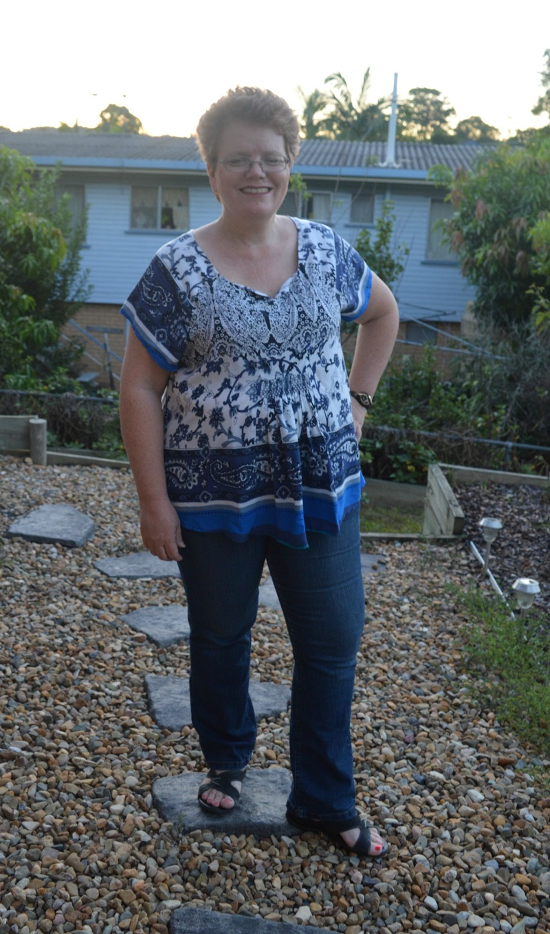 Front of Lesley's Smocked Amuse Boho Top Hack