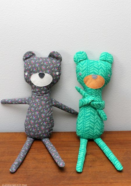 Hipster Teddy Bear sewn by Swoodson Says