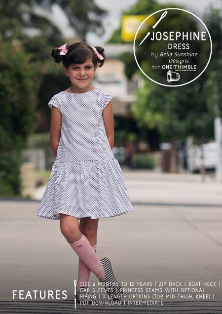 Josephine Dress PDF Sewing Pattern Cover