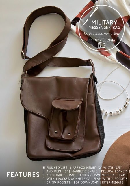 Military Messenger Bag PDF Sewing Pattern Cover