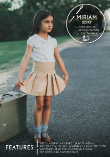 Miriam Skirt PDF Sewing Pattern Cover