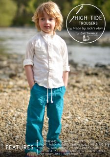 High Tide Trousers Stand Alone Pattern Cover