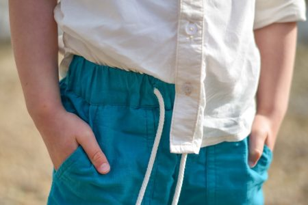 MBJM High Tide Trousers waistband close up
