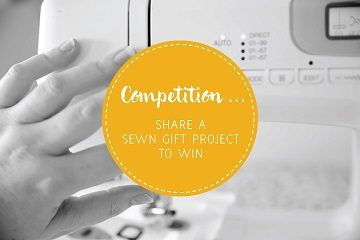 Share a sewn gift project to win