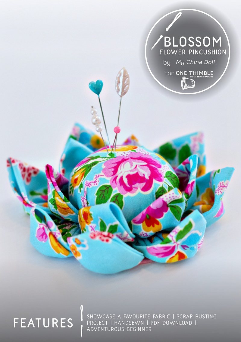 Blossom Flower Pincushion Stand Alone Cover