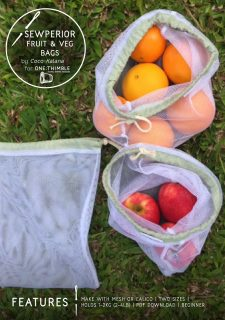 Sewperior fruit and veg bags stand alone cover