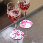 Wine Glass Coaster sewn by Tanya