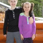 Hickory and Spice Henley for boys and girls
