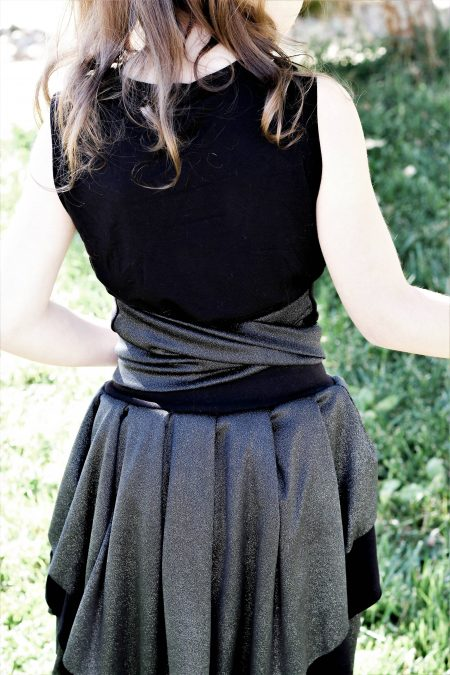 Back view Abby's Ballerina tie top sleeveless