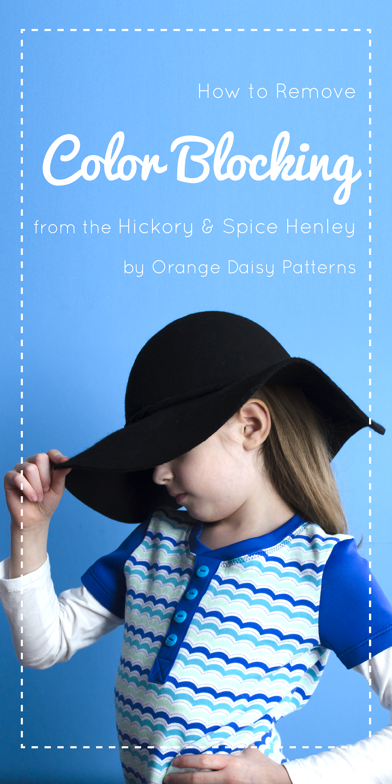 How to remove colour blocking from the Hickory and Spice Henley - pattern hack
