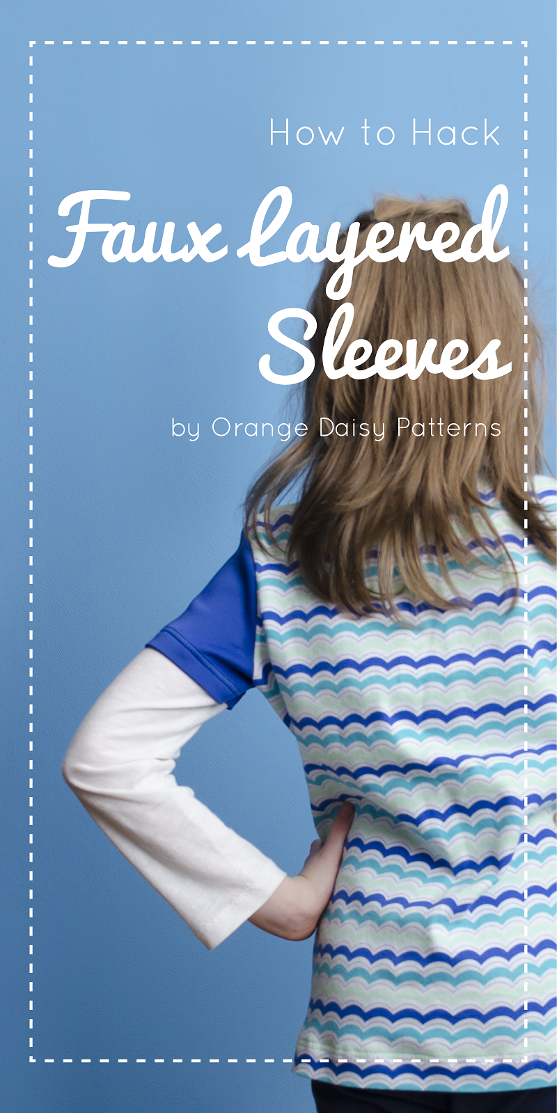 How to add faux layered sleeves to the Hickory and Spice Henley - pattern hack