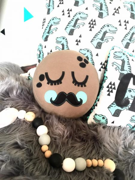 Piccolo Mr Moon sewn by blooms & butterflies doll studio