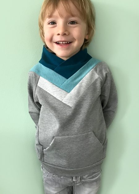 Origami Sweater sewn by Elles