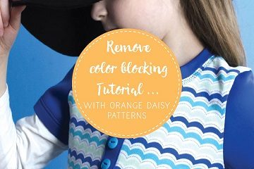 remove color blocking tutorial with orange daisy patterns-01