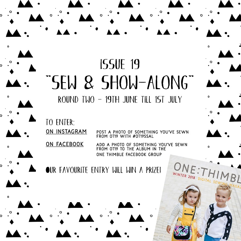OT19 Sew and show along round 2 flyer