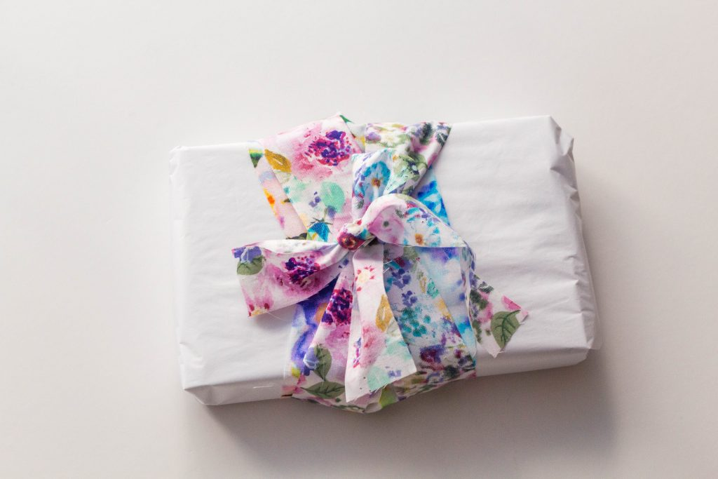 Use a pretty fabric ribbon